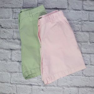 Ralph Lauren 2 Pairs Pink and Green Golf Shorts 4P